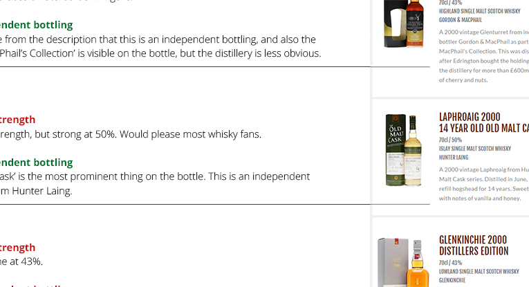 Whisky Exchange - search analysis