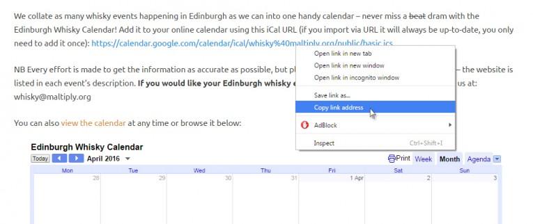 Edinburgh Whisky Calendar - How To #1