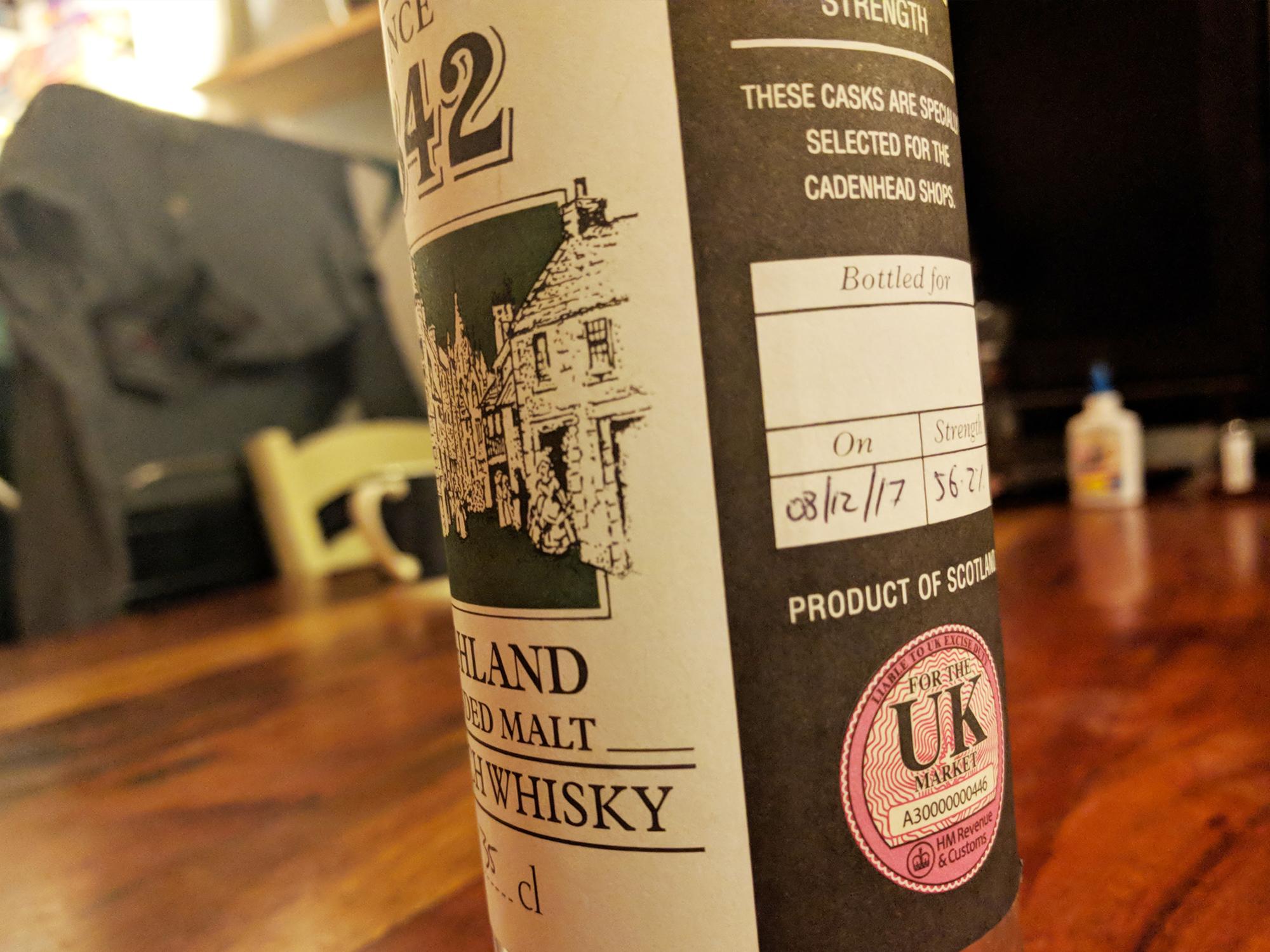 Day 3: Cadenhead's Highland Live Cask