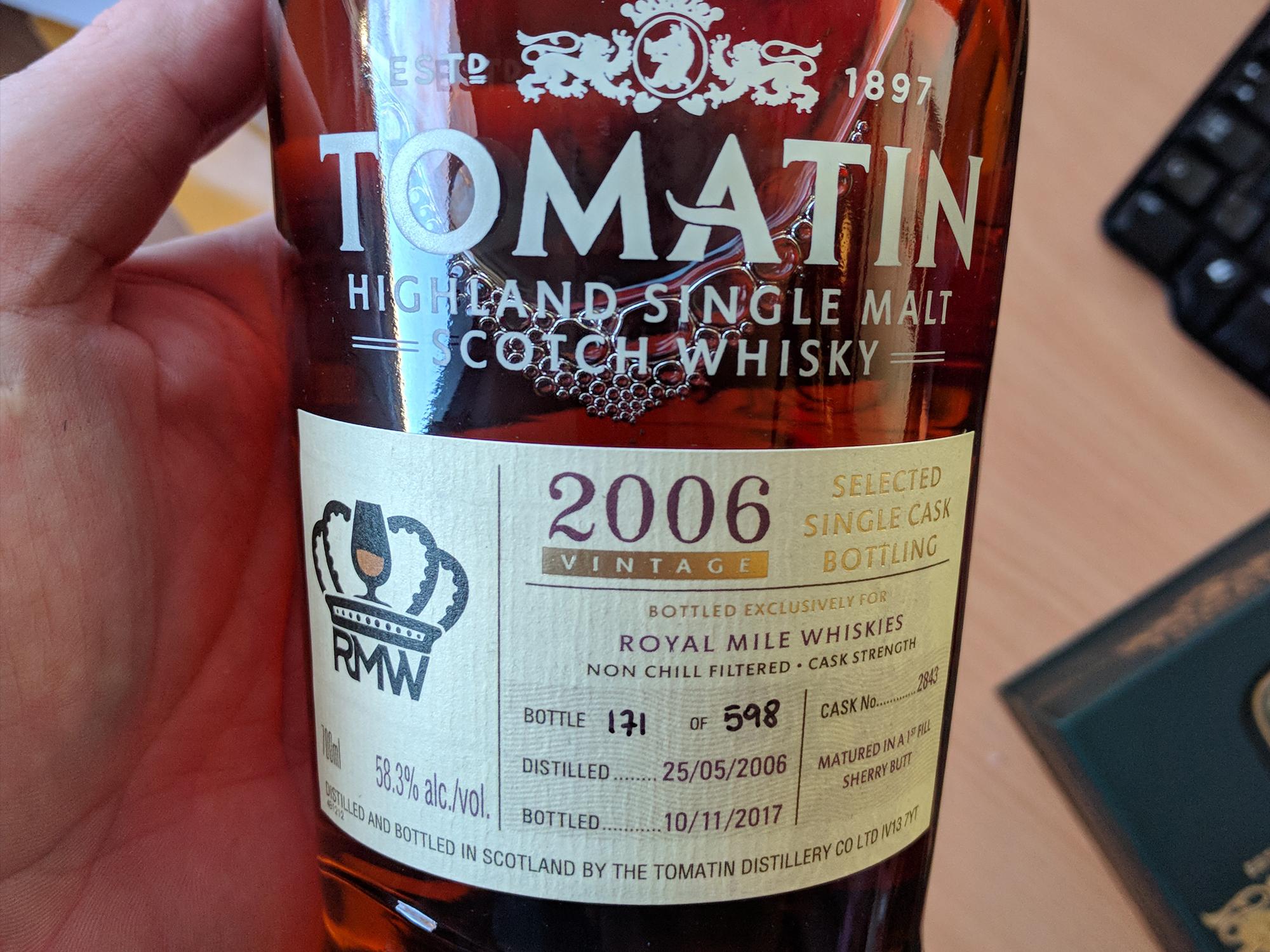 Day 9: Tomatin RMW 11yo 2006